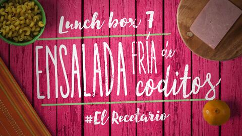 Ensalada de coditos + mandarina (Día 7) - 23 ideas para lunch boxes #ElR...