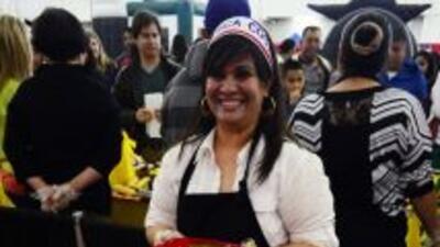 Enoe Pinzón de Costa Rica nos deleitó con un tamal de verduras y pollo