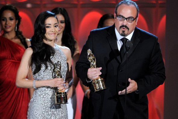 Aimee Garcia y David Zayas fueron de los primeros en recibir su ALMA Awa...