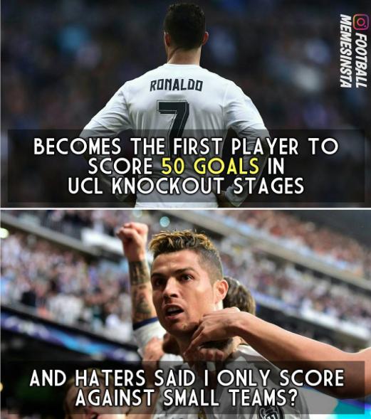 Cristiano le llenó la canasta al Atlético, y los memes también Captura d...
