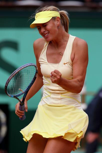 Lo que probablemente hizo que Sharapova se 'calentara' y sacar la casta...