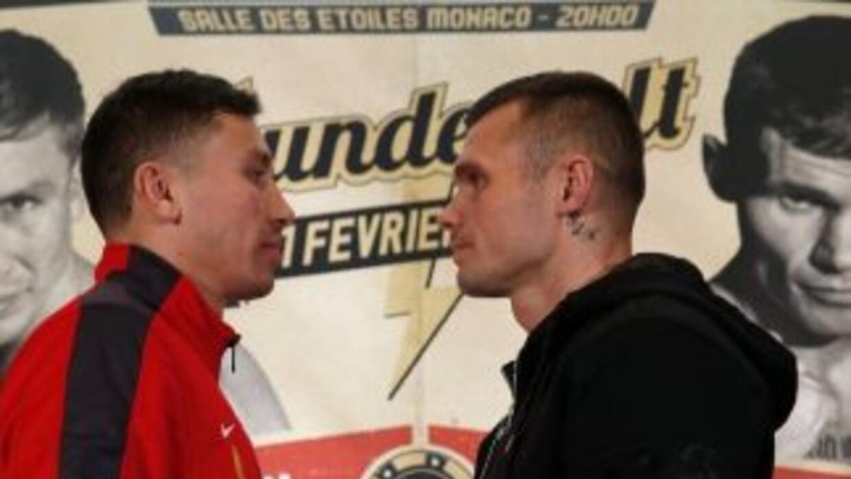 Golovkin y Murray frente a frente (Foto: CMB).