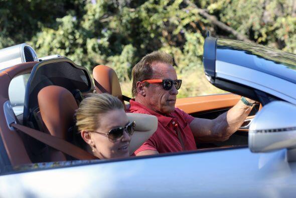 Arnold Schwarzenegger no se anda por las ramas cuando se trata de pasear...