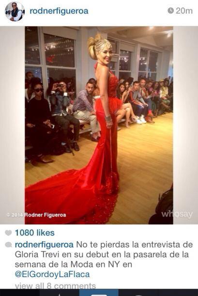 ¡Gloria Trevi se lanza como modelo en el Fashion Week de NY! Un vestido...
