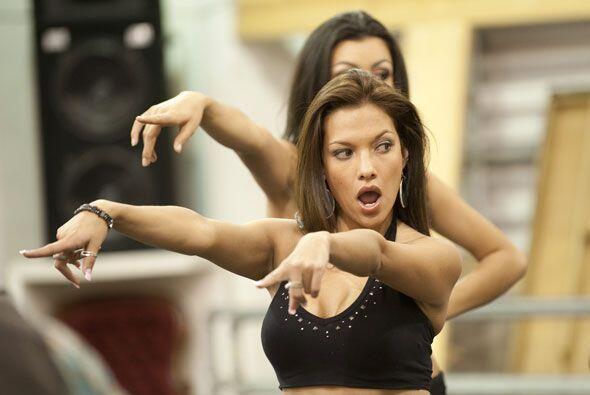 Michelle Andrade parece que ya está lista para el show del domingo.