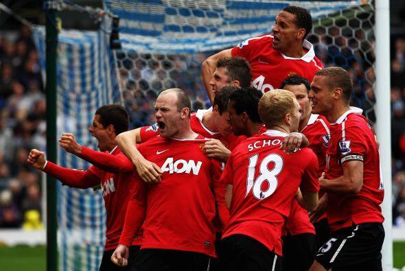 Los jugadores del 'Man-U' se volvieron locos al lograr el empate y sus h...