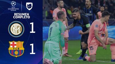 Inter Milan 1-1 Barcelona - GOLES Y RESUMEN EXTENDIDO - UEFA Champions League