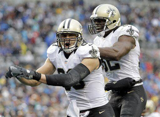 Jimmy Graham, ala cerrada de los New Orleans Saints (AP-NFL)