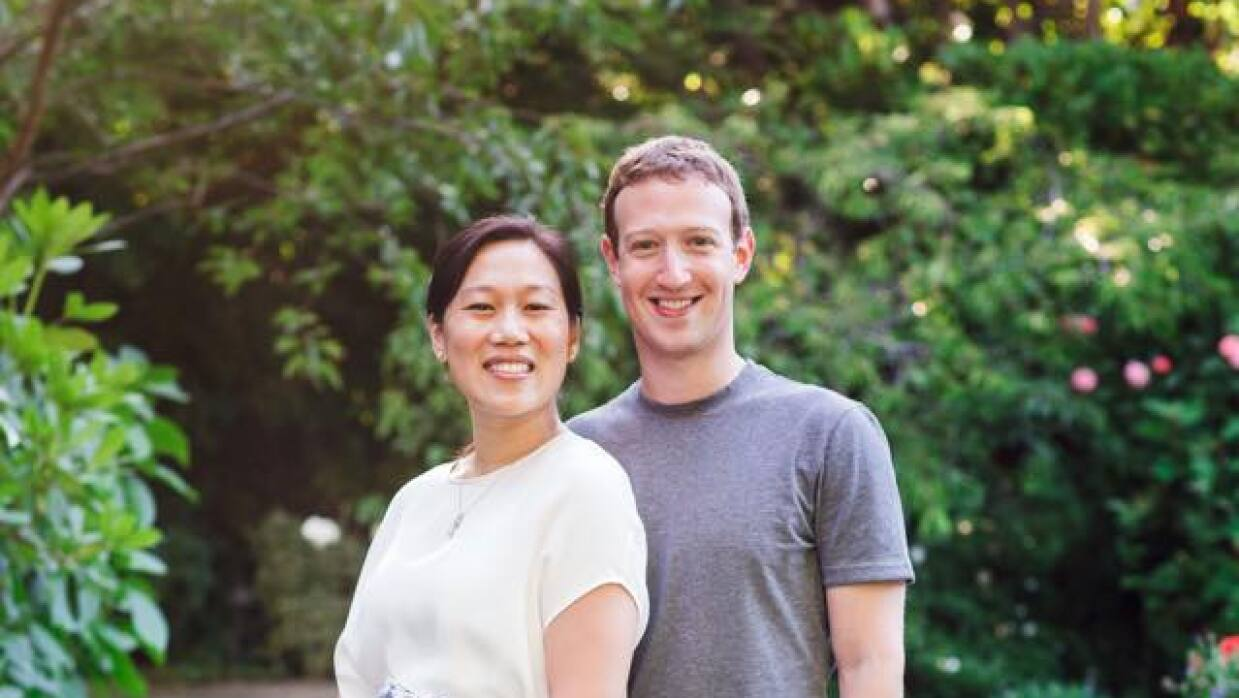 Mark Zuckerberg y su esposa Priscilla Chan.