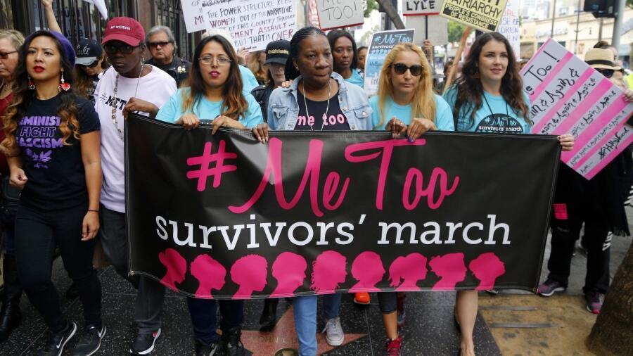 Marcha #MeToo de sobrevivientes del acoso y abuso sexual por las calles...