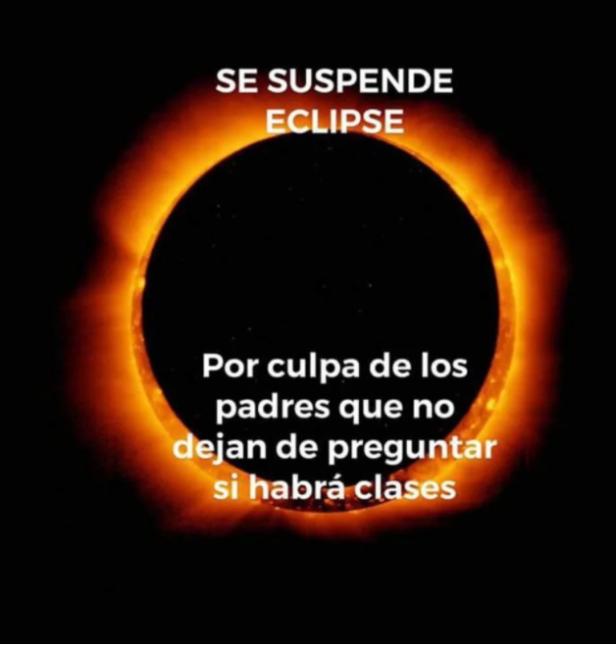 ¿Qué queda después de un eclipse de sol? Los memes Captura de pantalla 2...