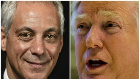 Rahm Emanuel y Donald Trump se reunirán en Nueva York