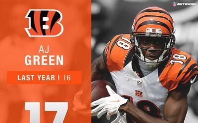 #17: A.J. Green (WR, Bengals) | Top 100 Jugadores 2017
