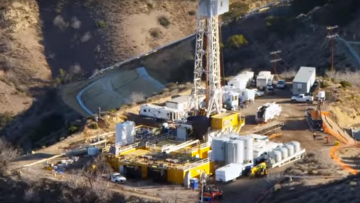 Zona de la fuga de gas en Aliso Canyon, cerca de Porter Ranch
