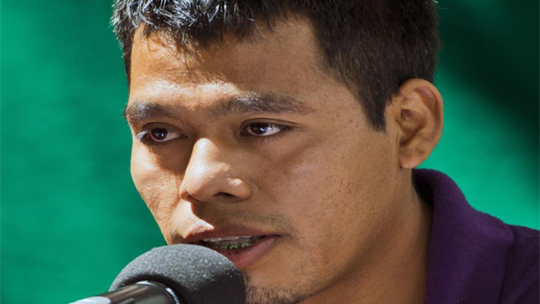 Omar García, sobreviviente de Ayotzinapa.