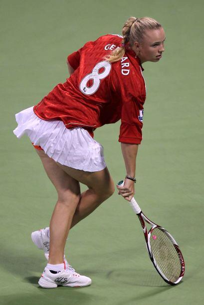 La combinación entre el rojo y el blanco es la favorita para Wozniacki.