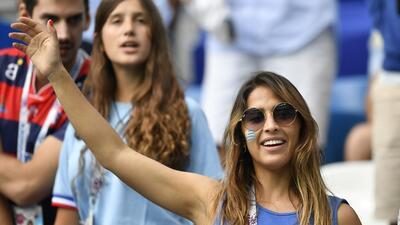 La pasión de las fanáticas en los cuartos de final entre Uruguay y Francia