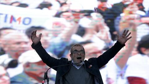 El ex líder guerrillero Rodrigo Londoño, conocido como Tim...