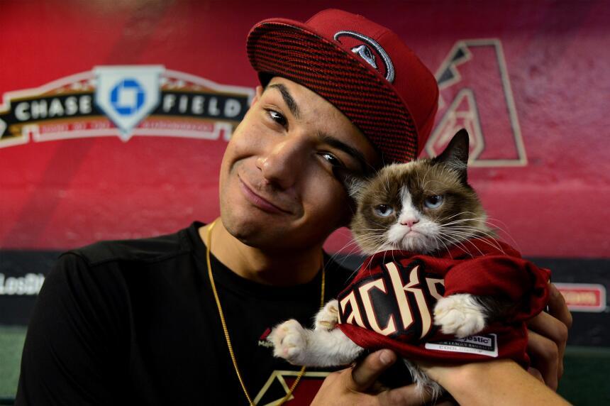 """¡El """"Grumpy Cat"""" invitado especial de los Diamondbacks!"""