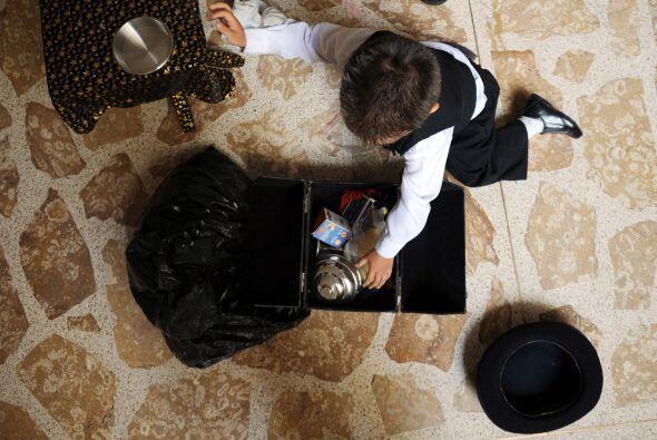 Su padre, el señor Luis Fernando Giraldo cuenta que el pequeño siempre m...