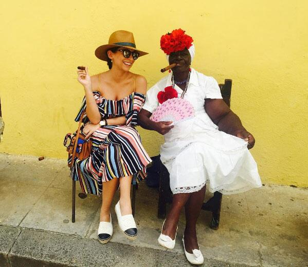 Ana Brenda e Iván Sánchez en Cuba