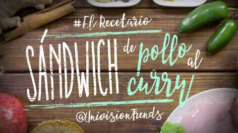 Sándwich de pollo al curry #ElRecetario