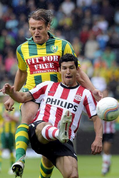 Javier Rodríguez llegó a ser titular del equipo holandés junto a Carlos...