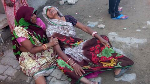 Esta mujer asistía a la boda y llora por las muertes que caus&oac...