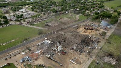 La planta de fertilizantes quedó totalmente destruida.