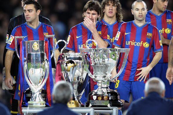 Pero lo ha ganado todo con el FC Barcelona: seis Ligas, 3 Ligas de Campe...