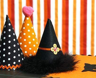 Sombreros de bruja.Utiliza sombreros de cumpleaños para realizar estos c...
