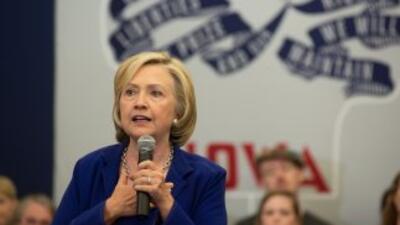 Hillary Clinton durante un discurso