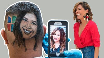 Famoso barbero boricua hace corte de cabello con la cara de Karla Martínez y así reaccionó ella