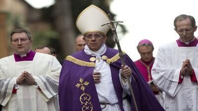 El Papa Francisco presidió los ritos del Miércoles de Ceniza