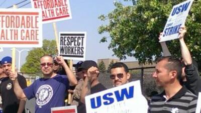 De huelga trabajadores en Franklin Park