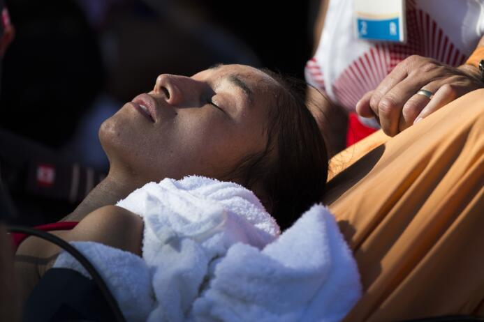 """""""La atleta está recuperándose; hay una deshidratación total"""", comentó Lo..."""