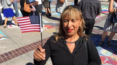 La mexicana Elvira Herrera decidió naturalizarse estadounidense p...