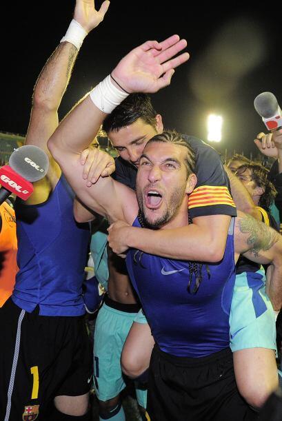 Todo mundo vivía la fiesta en patio ajeno, pues Barcelona jugó como visi...