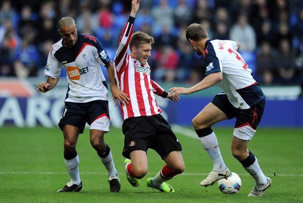 Por otra parte, Sunderland sorprendió al Bolton y le ganó de visitante.