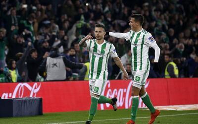 Los verdiblancos celebran un triunfo valioso en La Liga.