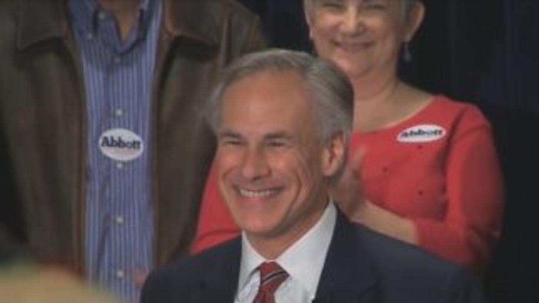 Greg Abbott, el candidato por el partido republicano a ser gobernador en...