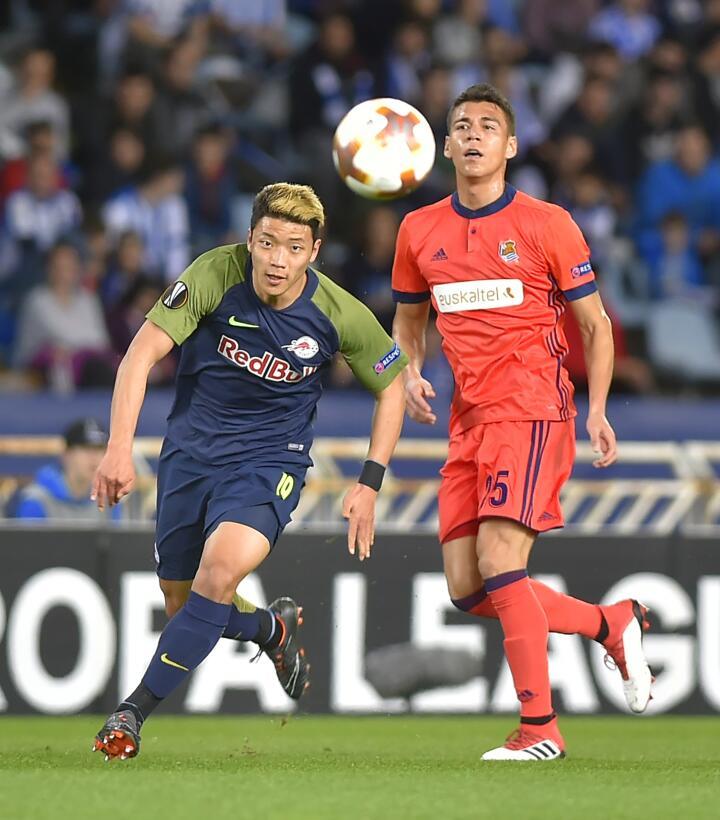 Héctor Moreno: el defensor jugó todo el partido en el que la Real Socied...