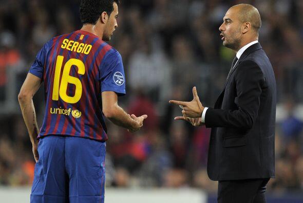 Mientras tanto Guardiola aprovechaba para dar algunas indicaciones.