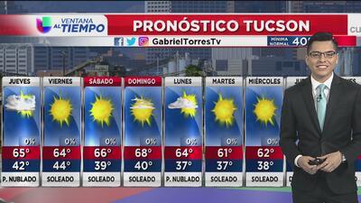 Nublados parciales y algunas probabilidades de lluvias en Arizona