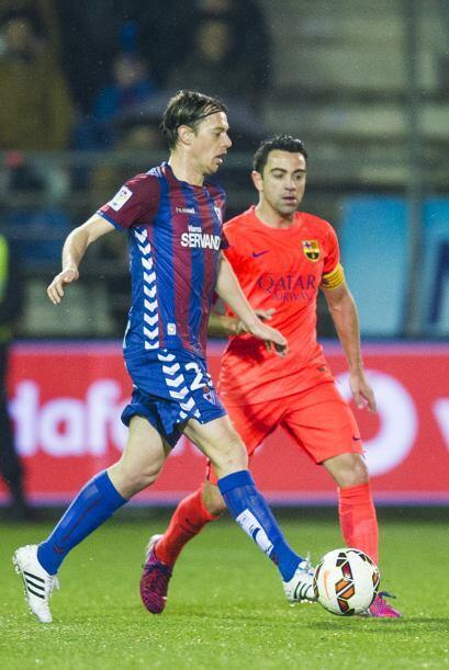 Xavi Hernández entró en el segundo tiempo y llegó a 750 partidos con la...