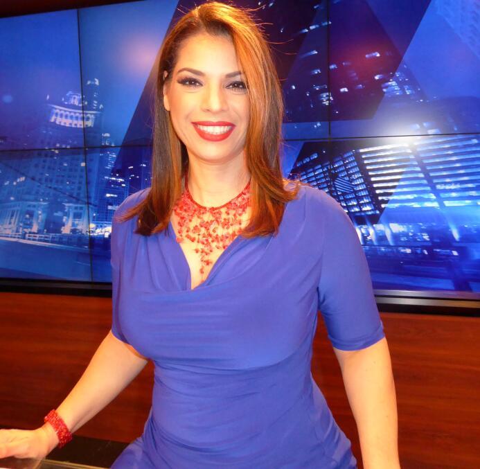 Érika Maldonado se vistió con los colores de los Cubs toda la semana