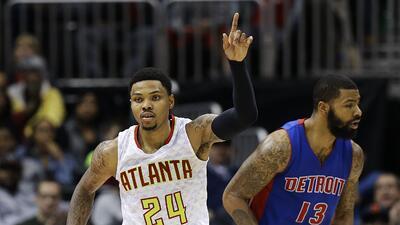 Atlanta Hawks vencieron 107-100 a Detroit Pistons