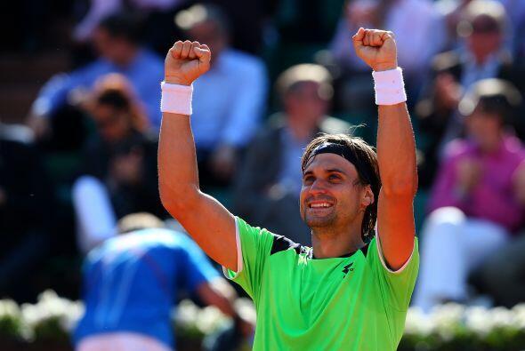 El español David Ferrer también consiguió su pase a la semifinal de Rola...