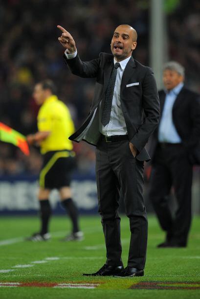 Josep Guardiola, que de cara a este partido se veía temeroso, no paraba...