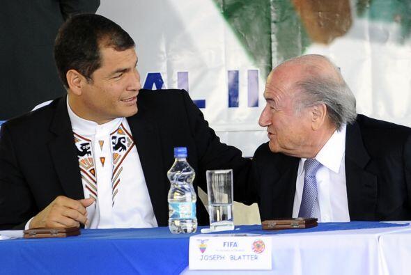 Blatter visitó Ecuador después de seis años. La nación sudamericana fue...